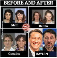 Heroin, Memes, and Affect: BEFORE AND AFTER  2.5 Years Later  Heroin  İS IN MY  DNA  1997  2008  Cocaine  BAYERN The Bayern Affect https://t.co/0vm34s4t3a