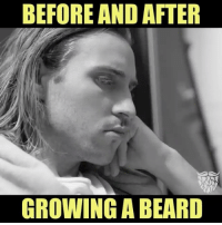 Memes, 🤖, and Remarkable: BEFORE AND AFTER  GROWING A BEARD The difference is remarkable!!!