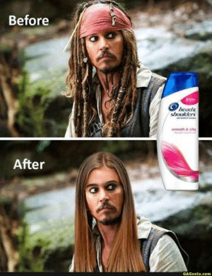 Before and After Head & Shoulders :D: Before and After Head & Shoulders :D