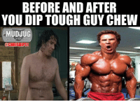 Before And After You Dip Toughguy Chew Portable Spittoons