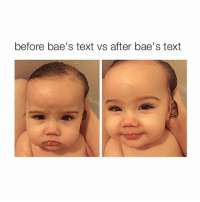 S'cute: before bae's text vs after bae's text S'cute