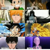 Only Saitama lose his hair. . . . . . . .: BEFORE  BEFORE  AFTER  AFTER  AFTER  JI Only Saitama lose his hair. . . . . . . .