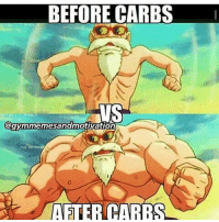Full, Carefully, and Caring: BEFORE CARBS  HUSS  @gymmemesandmotivation  AFTER CARE Flat vs full.