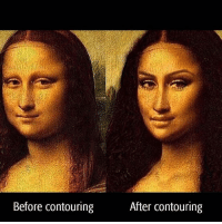 She hot: Before contouring  After contouring She hot