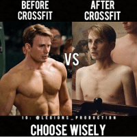 Clothes, Facebook, and Gym: BEFORE  CROSSFIT  AFTER  CROSSFIT  VS  l6LEGI O N SP R 0 D U C TIO N  CHOOSE WISELY 🔥😳😂TRUE OR FALSE? Founder 👉: @king_khieu. Before VS After Crossfit. The feels. Tag 👇 a crossfitter below! Thoughts? 🤔 What do you guys think? COMMENT BELOW! Athlete: @chrisevans.ig. TAG SOMEONE who needs to lift! _________________ Looking for unique gym clothes? Use our 10% discount code: LEGIONS10🔑 on Ape Athletics 🦍 fitness apparel! The link is in our 👆 bio! _________________ Principal 🔥 account: @fitness_legions. Facebook ✅ page: Legions Production. @legions_production🏆🏆🏆.