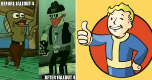 25 Hilarious Fallout 4 Logic Memes That Will Crack Up Any Gamer: BEFORE FALLOUT4  AFTER FALLOUT 4 25 Hilarious Fallout 4 Logic Memes That Will Crack Up Any Gamer