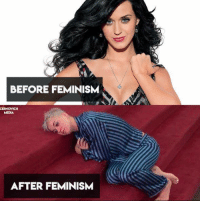 Katy Perry was a great girl, until she became a feminist...: BEFORE FEMINISM  CERNOVICH  MEDIA  AFTER FEMINISM Katy Perry was a great girl, until she became a feminist...
