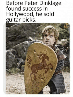 My first post: Before Peter Dinklage  found success in  Hollywood, he sold  guitar picks. My first post