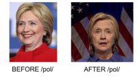 Memes, Sad, and 🤖: BEFORE /pol/  AFTER /pol/ Crooked aged decades in 2016- Sad!