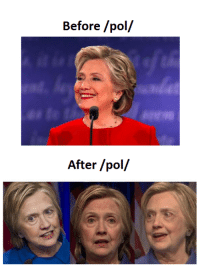 Memes, 🤖, and Pol: Before /pol/  After /pol/ She's a mess!