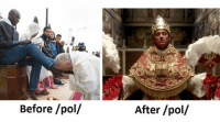 """""""Tolerance doesn't live here anymore. It's been evicted."""" — Pope Pius XIII, The Young Pope  Stop Being A Pleb IV: Where No Man Has Memed Before: Before /pol/  After /pol/ """"Tolerance doesn't live here anymore. It's been evicted."""" — Pope Pius XIII, The Young Pope  Stop Being A Pleb IV: Where No Man Has Memed Before"""