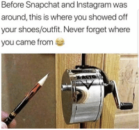 Facts, Instagram, and Shoes: Before Snapchat and Instagram was  around, this is where you showed off  your shoes/outfit. Never forget where  ou came from ea Facts 😂💯 https://t.co/9gGVzFJzen