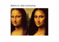 Before vs. after contouring