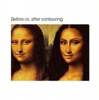 Before vs. after contouring good night