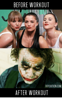 Wanna know how I messed up my make-up?: BEFORE WORKOUT  DO OUEVEN.COM  AFTER WORKOUT Wanna know how I messed up my make-up?
