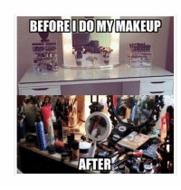 Lol, Makeup, and Memes: BEFOREIDOMY MAKEUP  N332  AFTER 99 Beauty Memes That Will Make You LOL