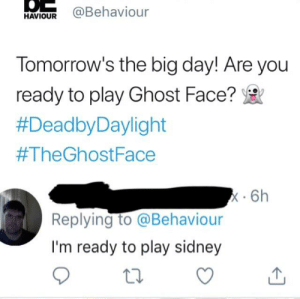 Haviour Tomorrows The Big Day Are You Ready To Play Ghost Face