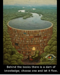 Thought for the day! https://t.co/GqZZwYzBWH: Behind the books there is a dam of  knowledge, choose one and let it flow. Thought for the day! https://t.co/GqZZwYzBWH