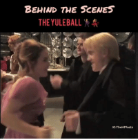 Friends, Harry Potter, and Love: BEHIND THE SCENES  THE YULEBAL  IG:TheHPfacts We love some behind the scenes don't we? 😂 QOTD: Comment below your fave Harry Potter professor? Lupin probably! 🐺 What about you? Comment below. 👇🏼 ... Follow us 👉(@harrypotterfacts)!👈 🙌🙏 Tag someone who would love this! 😍 Don't forget to follow us on (@harrypotteredits) for more posts like this! 😱 Tag your friends below!👇👇 ©HarryPotterFacts HarryPotterFacts ⚠No ©Copyright Infringement Intended, All rights to J.K. Rowling and Warner Bros. ®