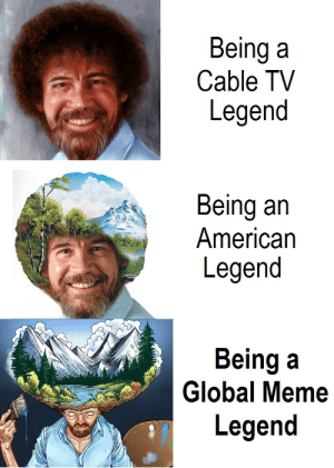Birthday, Dank, and Meme: Being a  Cable TV  Legend  Being an  American  Legend  Being a  Legend  2h  Global Meme I made an expanding brain template for his birthday. by ManBehindJulioOcho MORE MEMES
