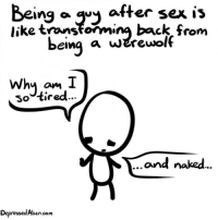 why do guys get tired after sex