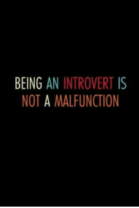 kc: BEING  AN INTROVERT  IS  NOT A MALFUNCTION kc