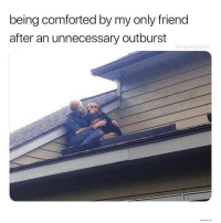 Memes, Best, and Best Of: being comforted by my only friend  after an unnecessary outburst  theworlepolice It happens to the best of us (@theworldpolice