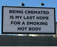 Dank, Smoking, and Hope: BEING CREMATED  IS MY LAST HOPE  FOR A SMOKING  HOT BODY #jussayin