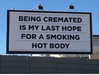 Some days I feel like this..... :-): BEING CREMATED  IS MY LAST HOPE  FOR A SMOKING  HOT BODY Some days I feel like this..... :-)
