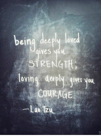 Dating, Love, and Courage: being deeply lovcd  eina deeply lov  STRENGTH  loving depk gieE you  COURAGE  a0 When it comes to dating, it really is risk versus reward. You risk being hurt if they reject you, but you reap the rewards when they accept you.   Are you going to give love another chance in 2014?