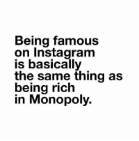 Being Rich, Gym, and Instagram: Being famous  on Instagram  is basically  the same thing as  being rich  in Monopolv. Boom 💣💥💣💥💣 . @DOYOUEVEN 👈🏼 10% OFF STOREWIDE (use code DYE10 ✔️ tap the link in our BIO 🎉