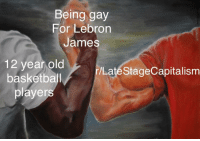 Basketball, LeBron James, and Lebron: Being gay  For Lebron  James  12 year old  basketball  players  r/Laté StageCapitalism