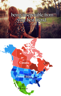 #justcanadianthings  Amazing American Memes <3: being inseperable from  your best friend  Canada #justcanadianthings  Amazing American Memes <3