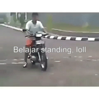 Indonesian (Language) and Loll: Belajar standing, loll