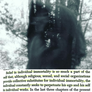 """""""Belief in individual immortality is so much a part of the self that, although religious, sexual, and social organizations provide collective substitutes for individual immortality, the individual constantly seeks to perpetuate his ego and his self in individual works."""" - Otto Rank [1080x1080]: """"Belief in individual immortality is so much a part of the self that, although religious, sexual, and social organizations provide collective substitutes for individual immortality, the individual constantly seeks to perpetuate his ego and his self in individual works."""" - Otto Rank [1080x1080]"""