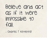 Memes, Acting, and Believable: Believe and act  as if it were  imPOSSible to  Charles F Kettering <3 PickTheBrain  .