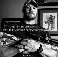 "Nike, I loved your gear, but you exhaust my spirit on this one. Your new ad with Colin Kapernick, I get the message, but that sacrificing everything thing…. It just doesn't play out here. Sacrificing what exactly? A career? I've done that both times I chose to stay home and be with my kids instead of continuing my business climb… and it wasn't sacrificing everything. It was sacrificing one career and some money and it was because of what I believe in and more importantly, who I believe in. At best, that is all Colin sacrificed… some money and it's debatable if he really lost his career over it. Maybe he sacrificed the respect of some people while he gained the respect of others. Or maybe he used one career to springboard himself into a different career when the first was waning. I don't know. What I do know is, he gained popularity and magazine covers he likely wouldn't have gotten without getting on his knees or as you say, ""believing in something."" I'm also thinking the irony is that while I am not privy to the numbers, it's likely he gained a lucrative Nike contract. So yeah… that whole ""sacrificing everything"" is insulting to those who really have sacrificed everything. You want to talk about someone in the NFL sacrificing everything? Pat Tillman. NFL STARTING, not benched, player who left to join the Army and died for it. THAT is sacrificing everything for something you believe in. How about other warriors? Warriors who will not be on magazine covers, who will not get lucrative contracts and millions of followers from their actions and who have truly sacrificed everything. They did it because they believed in something. Take it from me, when I say they sacrificed everything, they also sacrificed the lives of their loved ones who will never be the same. THAT is sacrificing everything for something they believe in. Did you get us talking? Yeah, you did. But, your brand recognition was strong enough. Did you teach the next generation of consumers about true grit? Not that I can see. (Continue in the comments) @chriskylefrog @tayakyle: BELIEVE IN SOMETHING  EVEN IF IT COSTS YOU EVERYTHING  JUST DO IT. Nike, I loved your gear, but you exhaust my spirit on this one. Your new ad with Colin Kapernick, I get the message, but that sacrificing everything thing…. It just doesn't play out here. Sacrificing what exactly? A career? I've done that both times I chose to stay home and be with my kids instead of continuing my business climb… and it wasn't sacrificing everything. It was sacrificing one career and some money and it was because of what I believe in and more importantly, who I believe in. At best, that is all Colin sacrificed… some money and it's debatable if he really lost his career over it. Maybe he sacrificed the respect of some people while he gained the respect of others. Or maybe he used one career to springboard himself into a different career when the first was waning. I don't know. What I do know is, he gained popularity and magazine covers he likely wouldn't have gotten without getting on his knees or as you say, ""believing in something."" I'm also thinking the irony is that while I am not privy to the numbers, it's likely he gained a lucrative Nike contract. So yeah… that whole ""sacrificing everything"" is insulting to those who really have sacrificed everything. You want to talk about someone in the NFL sacrificing everything? Pat Tillman. NFL STARTING, not benched, player who left to join the Army and died for it. THAT is sacrificing everything for something you believe in. How about other warriors? Warriors who will not be on magazine covers, who will not get lucrative contracts and millions of followers from their actions and who have truly sacrificed everything. They did it because they believed in something. Take it from me, when I say they sacrificed everything, they also sacrificed the lives of their loved ones who will never be the same. THAT is sacrificing everything for something they believe in. Did you get us talking? Yeah, you did. But, your brand recognition was strong enough. Did you teach the next generation of consumers about true grit? Not that I can see. (Continue in the comments) @chriskylefrog @tayakyle"