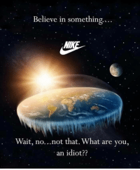 Tumblr, Blog, and Http: Believe in something....  Wait, no...not that. What are you,  an idiot?? awesomesthesia:  Flat earthers….