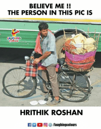 #HrithikRoshan #Super30: BELIEVE ME!!  THE PERSON IN THIS PIC IS  LAUGHING  HRITHIK ROSHAN  R E  C 回囲/laughingcolours #HrithikRoshan #Super30
