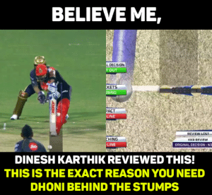 Memes, Lost, and World Cup: BELIEVEME,  LDECISION  T OUT  KETS  SING  ACT  LINE  REVIEW LOST  CHING  LINE  KKR REVIEW  ORIGINAL DECISION-NO  Jio  DINESH KARTHIKREVIEWED THIS  THIS IS THE EXACT REASON YOU NEED  DHONI BEHIND THE STUMPS We need Dhoni Review System in World Cup!