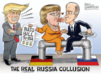 Russia, The Real, and Forwardsfromgrandma: BEN  GARRISON  OGRRRGRAPHICs.coM  BILL  TO USA  THE REAL RUSSIA COLLUSION Not sure whether I can get into the new fetish Garrison has gotten into.