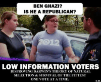 THESE PEOPLE ARE THE REASON YOU CAN'T HAVE NICE THINGS   Dean James III%: BEN GHAZI?  IS HE A REPUBLICAN?  ith Came  LOW INFORMATION VOTERS  DISPROVING DARWIN'S THEORY OF NATURAL  SELECTION & SURVIVAL OF THE FITTEST  ONE VOTE AT A TIME.  C.M. THESE PEOPLE ARE THE REASON YOU CAN'T HAVE NICE THINGS   Dean James III%