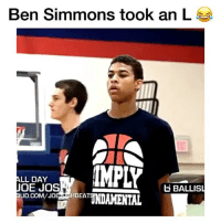Derryck Thornton dropped Ben Simmons as a Freshman 😳🔥 - Follow me @boldmixes for more! - Via: @ballislife: Ben Simmons took an L  IMPLY  ALL DAY  OE JOS  GBALLISL  UD.COMVJO  HBEAT  TNDAMENTAL Derryck Thornton dropped Ben Simmons as a Freshman 😳🔥 - Follow me @boldmixes for more! - Via: @ballislife