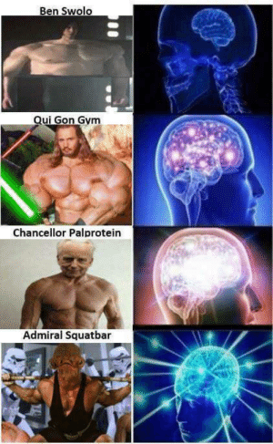A new hope: Ben Swolo  Qui Gon Gym  Chancellor Palprotein  Admiral Squatbar A new hope