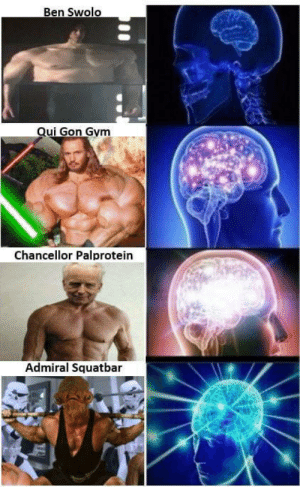 Did I miss any?: Ben Swolo  Qui Gon Gym  Chancellor Palprotein  Admiral Squatbar Did I miss any?