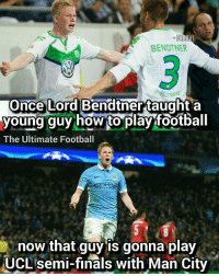 😂😂 @footy.goal: BENDTNER  Once Lord Bendtner taught a  young guy how to play football  The Ultimate Football  now that guy is gonna play  now that guy ls gonna play  UCL semi-finals with Man City 😂😂 @footy.goal