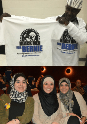 think-progress:  Voters Of Color And Young People Helped Bernie Sanders Pull Off His Significant Michigan UpsetFLINT, MICHIGAN — Bernie Sanders upset Hillary Clinton in the Michigan presidential primary on Tuesday, securing a larger share of voters of color than he has ever before and significantly winning young voters, who came out in record numbers.   Bernie also won the Muslim (Michigan is one of the few states where the Muslim vote is large enough to make a statistical difference) vote which surprised many pundits who didnt think Muslims would vote for a Jewish candidate since pundits suck.: BER  BERNIE  ing Families Across  BlackMern  Restoring Families Acress America.  BlackMenforBernie.com think-progress:  Voters Of Color And Young People Helped Bernie Sanders Pull Off His Significant Michigan UpsetFLINT, MICHIGAN — Bernie Sanders upset Hillary Clinton in the Michigan presidential primary on Tuesday, securing a larger share of voters of color than he has ever before and significantly winning young voters, who came out in record numbers.   Bernie also won the Muslim (Michigan is one of the few states where the Muslim vote is large enough to make a statistical difference) vote which surprised many pundits who didnt think Muslims would vote for a Jewish candidate since pundits suck.