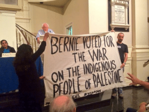 """evilelitest2:  roewoof:  filthygains:  blackpoeticinjustice:  whitegirlsaintshit:  correens:  This is from September.  Oop   Okay this is funny, because Black tumblr was dead pushin everyone and even they mothers to vote for Bernie Sanders! I can't tell y'all how many posts I came across encouragin people to register to vote and vote for Bernie Sanders! Bernie Sanders got your vote because he acknowledges that the police brutality in America is extremely critical in today's society and a reform must be made to change the way the police behave and act towards us, ESPECIALLY TOWARDS BLACK PEOPLE. Bernie Sanders got your vote because he wants public education, including public colleges to be free. Bernie Sanders got your vote because he wants healthcare for all citizens. Bernie Sanders got your vote because he marched to MLK the day he made his """"I Have A Dream"""" speech and organized resistance to segregation. He got your vote because he believes that minimum wages should be higher for everybody, is aware of global warming, AND is aware of economic inequality. but the MOMENT y'all hear that Bernie Sanders voted for war on Palestine, all of a sudden, you aint supportin' him? Like y'all expectin this nigga to be PERFECT! Y'all was ridin' his dick from the moment he announced his race to be the next US president, and y'all praised him for every word he said just moments ago! Now he loses all credibility because of a vote? Y'all fake as fuck. Who you gonna vote for now? Hillary? SHE AINT NO BETTER THAN YO MAN BERNIE! WHO ELSE YOU GONNA VOTE FOR?!  People want politicians to be perfect.  We need to realize that we will never agree with everything a politician has done in their life.  Exactly.  Also by the standard of Jews who have lived in Israel, Bernie is actually pretty moderate on the issue of Palestine, trust me it gets a lot worse.  : BERME YOTED FOR  THE WAR  ON THE INDIGENOUS  PEOPLE or PALESTNE  GAS evilelitest2:  roewoof:  filthygains:  blackpoeticinjustice:  whiteg"""