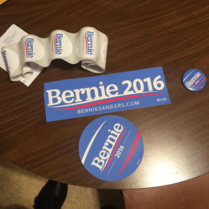 Bernie Sanders, Fail, and Fucking: Bernie 2016  BERNIESANDERS.COM  Bernie  Bernie  Bernie  2016 -  Bernie  2016  Bernie c-bassmeow:  First of many more merchandise I will buy from his campaign. Bernie sanders will win if millennials and others become inspired to take action. In life we have two choices to sit back and give up, to claim that the establishment has all the power and that the system can never be changed to work in your favor OR you could demand change and at least fucking try. I'm doing that. If you want change donate to Bernie Sander's campaign, join the movement, and become politically involved. Democrats and progressives win when voter turnout is high. Grassroots movements always win when enough people join them. Although money talks, the people in numbers when galvanized, always win. #BernieSanders #TakeAction #Donate #Merchandise #GetInvolved  Like this isn't a joke I put my money where my mouth is (I think that's the expression lol) like if you want change go out and demand it. Donate money (of course if you are able to/can) . Stop making excuses. Don't be apathetic. I make minimum wage and I'm still donating to the campaign. A significant portion of my time is going to the campaign. It's a worthy sacrifice. It's a simple logic that can't fail: if many many people become involved and If people take two days of their life to vote in a primary and a national election- we will win. It's that simple. It just takes large numbers and the dismissal of moderate and liberal cynics who won't even try because they think we will automatically lose.