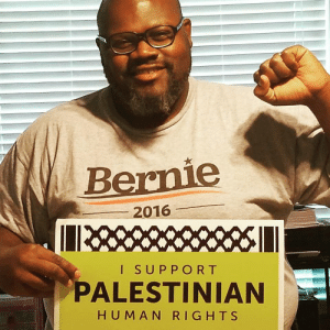 "Bernie Sanders, Black Lives Matter, and Donald Trump: Bernie  2016  I SUPPORT  PALESTINIAN  H UM AN RIGHTS politics-junkie:  vox:  Why this black Bernie Sanders delegate says he doesn't have the luxury of going ""Bernie or Bust."" Every night of the Democratic National Convention, Pastor Ray Shawn McKinnon and his friend Sebastian stayed up talking well past 3 am in their Holiday Inn hotel room. The two met last summer volunteering for Bernie Sanders in North Carolina, and soon became close friends. McKinnon, who is black and 6'1, calls Sebastian, who is white and 5'2, his ""pint-sized conscience."" Over 14 months, they were inseparable allies: canvassing, phone-banking, and organizing for a common cause. But now they're at odds — and trying to make sense of it. Sebastian says he can't bring himself to vote for Hillary Clinton. But McKinnon can't believe that his onetime allies, including Sebastian, hate Clinton so much that they would risk a presidency McKinnon thinks would be a catastrophe for minorities — including his four black sons. ""If Donald Trump wins, he's more likely to appoint judges who oppose Black Lives Matter and criminal justice reform, and who think that police officers — who can kill black people without being charged — already don't have enough power. That means if my kids get shot, the officers who did it would become less likely to be charged,"" he says. ""This isn't theory for us. It's reality.""   It's only a risk unless you live in a swing state.Why are people baffled when others don't share the same viewpoints as them?  ""Trying to make sense of it""?  Really?  This is what happens when neo-liberals use the language of identity politics. This notion that a black person or any POC HAS to like Clinton or that being a leftist and a POC are in direct conflict is so condescending, and it really irks me. It erases agency from POC and is more harmful than good."